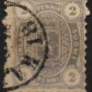 FINLAND Postage Stamp - 1875 - 2p Coat of Arms (Sc. #17) - Used