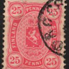 FINLAND Postage Stamp - 1882 - 25p Coat of Arms (Sc. #29) - Used