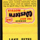 LAKE ESTES MOTEL - Estes Park, Colorado - 1960s(?) Vintage Matchbook Cover