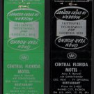 CENTRAL FLORIDA MOTEL - Haines City, Florida - Vintage Matchbook Covers (2)