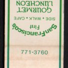 GINSBURG'S PUB - San Francisco, California - Vintage Matchbook Cover