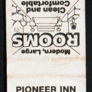 PIONEER INN MOTEL - Cartersville, Georgia - 1970s(?) Vintage Matchbook Cover