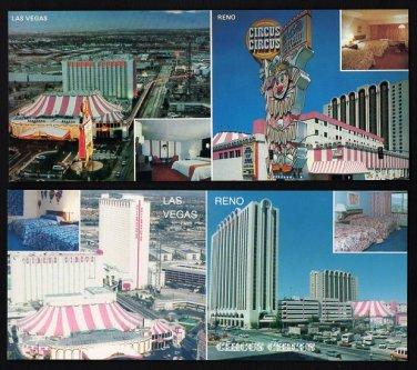 CIRCUS CIRCUS HOTEL / CASINO - Las Vegas & Reno, Nevada - Wide Postcards (2)