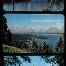 TETON NATIONAL PARK - Jackson Hole, Wyoming - 3 Vintage Scenic Postcards, Unused