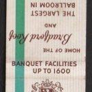 BRADFORD HOTEL - Boston, Massachusetts - 1950s(?) Vintage Matchbook Cover