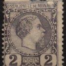 MONACO Postage Stamp - 1885 - 2c Prince Charles III (Sc. #2) - Unused (damaged)