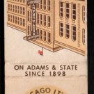 THE BERGHOFF RESTAURANT - Chicago, Illinois - 1950s(?) Vintage Matchbook Cover