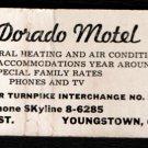 EL-DORADO MOTEL - Youngstown, Ohio - 1950s(?) Vintage Matchbook Cover