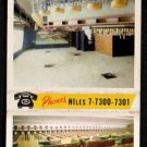 NILES BOWLING CENTER - Niles, Illinois - 1960s(?) Vintage Matchbook Cover