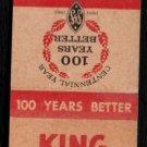 KING EDWARD CIGARS - 1961 Vintage Matchbook Cover