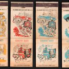 CIRCUS DAY - Diamond Match Co. - 7 Vintage Matchbook Covers