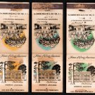 HOMES OF GREAT AMERICANS - Diamond Match Co. - 9 Vintage Matchbook Covers