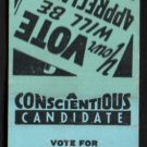 Vote For MARSHALL KEEHN - Illinois, 6th District - Vintage Matchbook Cover