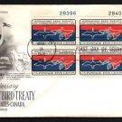 ART CRAFT - 1966 Migratory Bird Treaty (#1306) FDC - PB UA