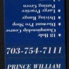 PRINCE WILLIAM PUBLIC GOLF COURSE - Nokesville, Virginia - 1980s Matchbook Cover