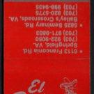 EL BANDITO MEXICAN RESTAURANT - Springfield, Virginia - Vintage Matchbook Cover