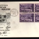FLEETWOOD - 1953 Trucking Industry (#1025) FDC - B4 UA
