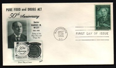FLEETWOOD - 1956 Pure Food Drug Act (#1080) FDC - UA