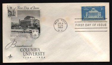 ART CRAFT - 1954 Columbia University Bicentennial (#1029) FDC - UA