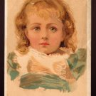 GOLD MEDAL COFFEE Victorian Trade Card - Pretty little blond girl