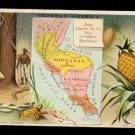 1889 Victorian Trade Card - Arbuckle Brothers Coffee Company - Map of  CENTRAL AMERICA (#61)