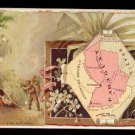 1889 Victorian Trade Card - Arbuckle Brothers Coffee Company - Map of  PARAGUAY (#73)
