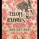 STRATER HOTEL - Durango, Colorado - 1980s Vintage Matchbook Cover