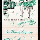 BERMUDA WINES & SPIRITS - Hamilton, Bermuda - 1970s Vintage Matchbook Cover