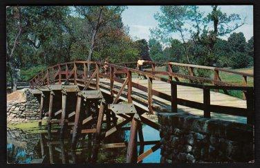 1950s(?) CONCORD, MASSACHUSETTS - Famous Concord Bridge - Unused Postcard