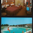 HOWARD JOHNSON'S MOTOR LODGE - Penn's Grove, New Jersey - 1967 Unused Postcards (2)