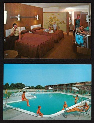 HOWARD JOHNSON'S MOTOR LODGE - Penn's Grove, New Jersey - 1967 Unused Postcards (2)