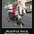 1980s SKAGWAY, ALASKA - Horse-Drawn Taxi - Unused Postcard