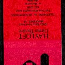 HAYLOFT DINNER THEATRE - Manassas, Virginia - 1980s Matchbook Cover