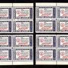 1960 George Washington Credo (#1139) Matched Plate Blocks