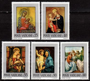 VATICAN - 1971 Madonna and Child Paintings (Sc. 504-8) - MNH