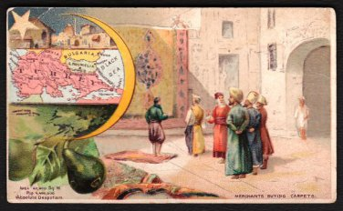 1889 Victorian Trade Card - Arbuckle Brothers Coffee Company - Map of TURKEY (#51)