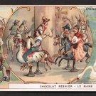 "CHOCOLAT BESNIER Victorian Trade Card - ""Danemark"" (Denmark) - Sports & Pastimes (Carousel, etc.)"