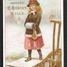C. Beriot VTC - CHICOREE EXTRA A LA BELLE JARDINIERE - Young girl crossing wooden footbridge, winter