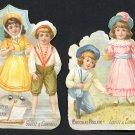 Die-cut CHOCOLAT POULAIN Victorian Trade Cards (2) - Children