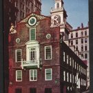 1950s BOSTON, MASSACHUSETTS - The Old State House - Unused Postcard