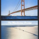 1950s/60s MACKINAW CITY, MICHIGAN - The Mackinac Bridge - Unused Postcards (2)