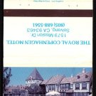 THE ROYAL COPENHAGEN MOTEL - Solvang, California - 1980s Vintage Matchbook Cover