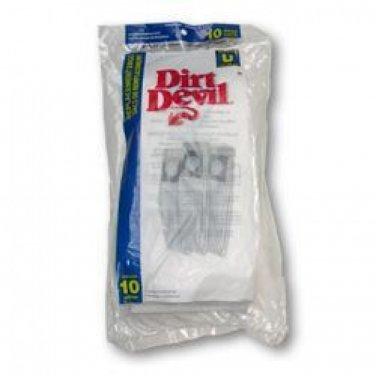NEW! Dirt Devil Type U Vacuum Bags (10-Pack), 3920048001