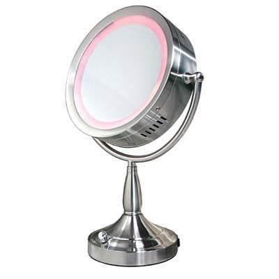 NEW Floor Model! Zadro Dimmable Round Lighted Mirror (1X to 8X) RDV68!