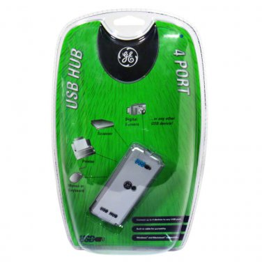 NEW (Open Package)! GE HO97958 USB 1.1 Slim 4-Port Hub