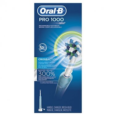 NEW! Oral-B PRO 1000 Electric Rechargeable Power Toothbrush Powered by Braun
