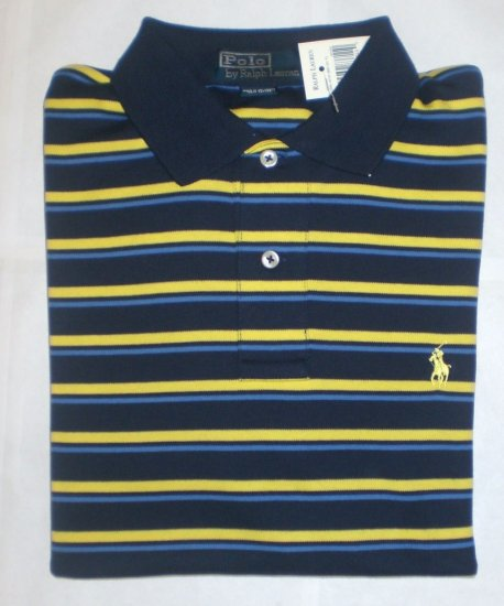 NEW RALPH LAUREN MENS CLASSIC FIT POLO SHIRT MEDIUM NWT BLUE FREE SHIP