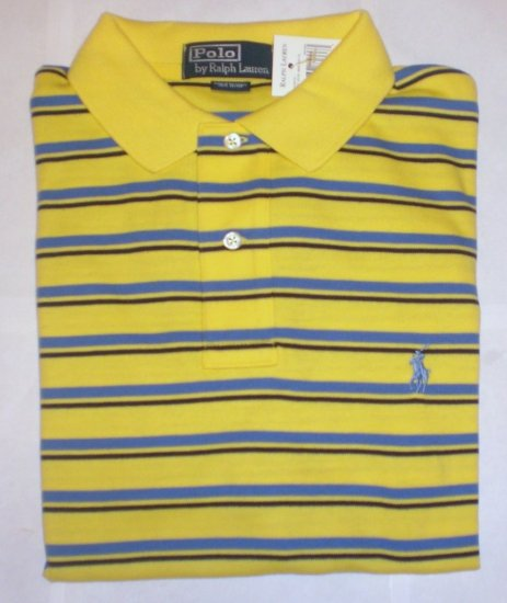 NEW RALPH LAUREN MENS CLASSIC FIT POLO SHIRT LARGE NWT YELLOW FREE SHIP