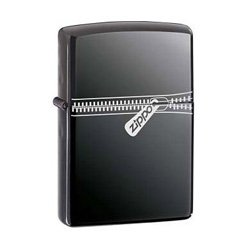 Zippo Lighter 21088 Zipped Black Ice 2006
