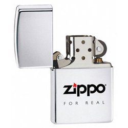 ZIPPO 565 FOR REAL HIGH POLISH CHROME LIGHTER